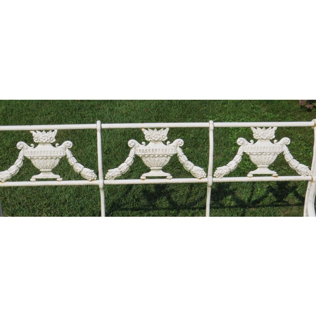 1900s Karl Friedrich Schinkel Style Neoclassical Cast Iron Patio Suite - 4 Pc. Set For Sale - Image 12 of 13