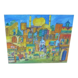 Contemporary Islamic Mixed Media Painting For Sale