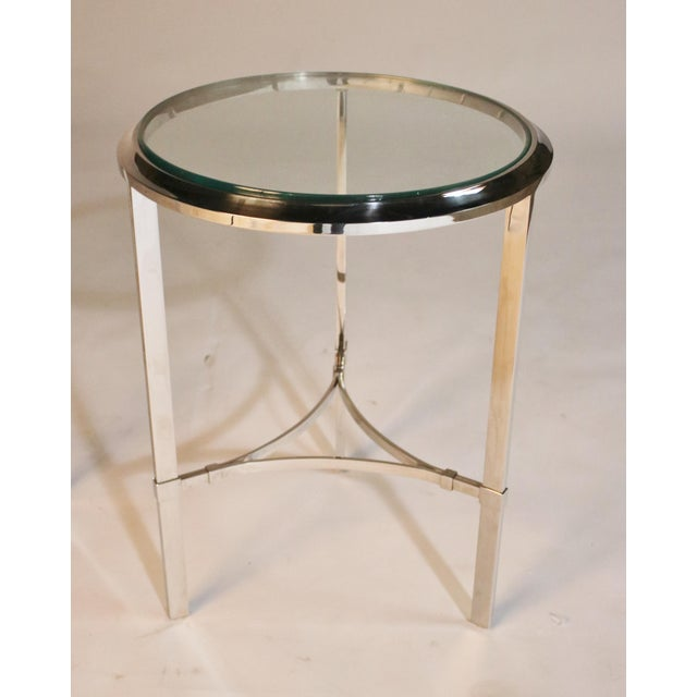 Silver Maison Jansen Style Steel Side Tables For Sale - Image 8 of 12