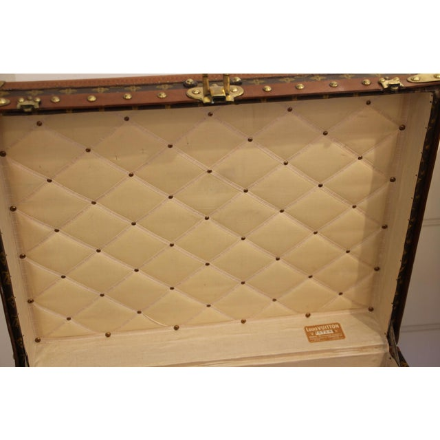 Very rare Louis Vuitton trunk in the very sought after shape. All stencilled monograms. Lozine trim, stamped Louis Vuitton...