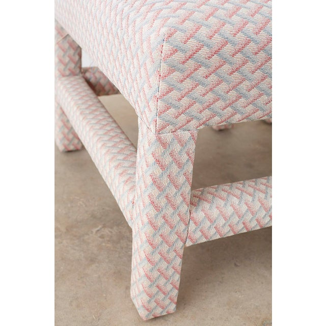 Milo Baughman Style Parsons Ottoman Benches - a Pair For Sale - Image 9 of 12