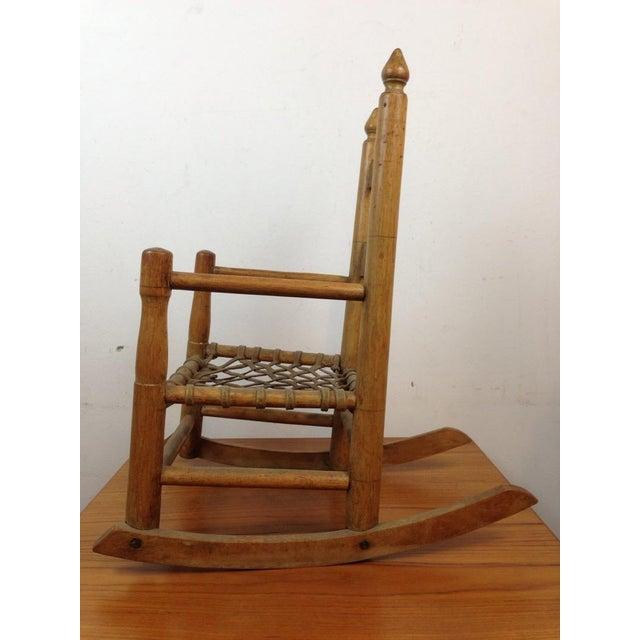 Vintage Carved Oak Rocking Chair - Image 4 of 5