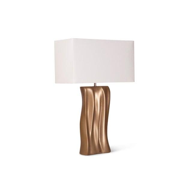 Metal Amorph Doris Table Lamp - Gold Finish For Sale - Image 7 of 9