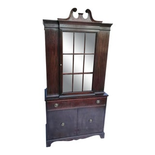 Antique Mahogany China Cabinet For Sale