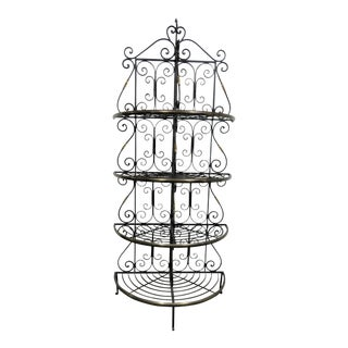 French Style Brass & Iron Bakers Rack For Sale