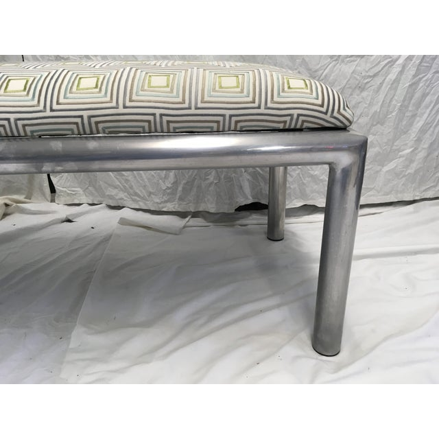 Mid-Century Modern Midcentury Aluminum Bench For Sale - Image 3 of 8