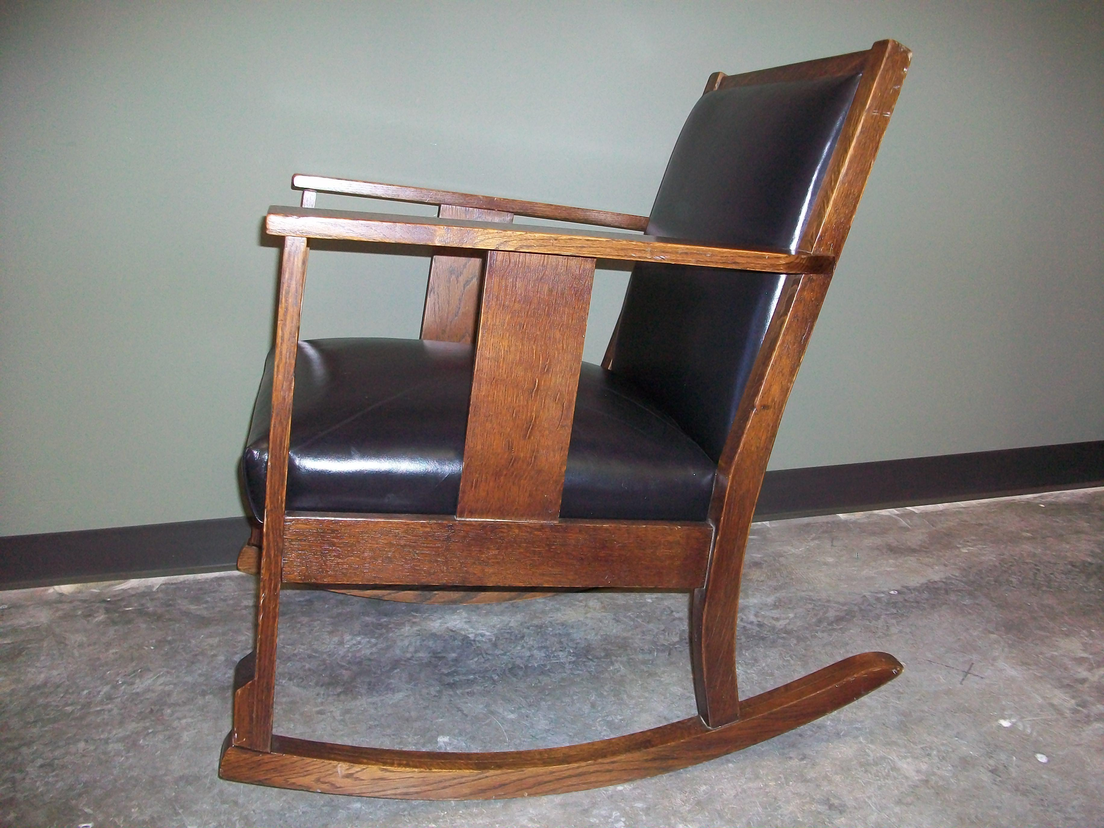 Antique Mission Oak Rocking Chair - Image 2 of 9  sc 1 st  Chairish & Antique Mission Oak Rocking Chair | Chairish
