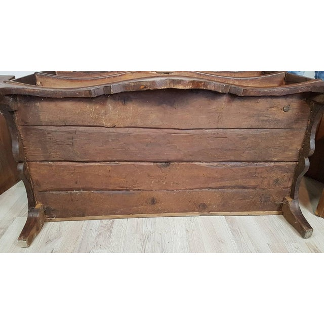 18th Century Italian Louis XV Inlaid Wood Chest of Drawers For Sale - Image 12 of 13