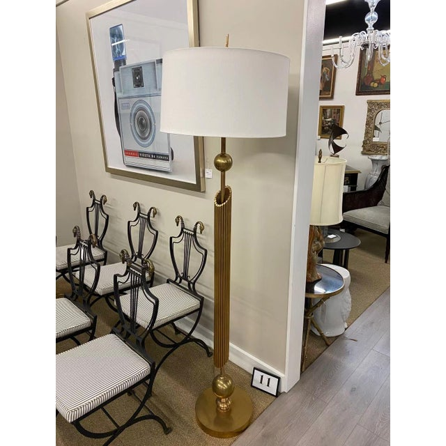 Brass Floor Lamp For Sale In New York - Image 6 of 6