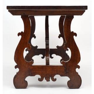 """Antique Spanish Renaissance """"Lyra"""" Trestle Table Preview"""