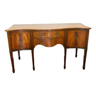 Antique Mahogany Side Board Buffet For Sale