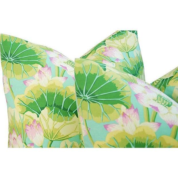 Kaffe Fassett Green Lotus Pillows - A Pair - Image 5 of 8