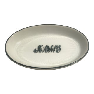 1990's Jimmy's Restaurant Beverly Hills Ceramic Deep Dish/Ashtray For Sale