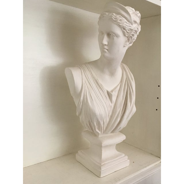 "Vintage Bust of Diana the Huntress Sculpture Ceramic 22h""x11""wx6""d"