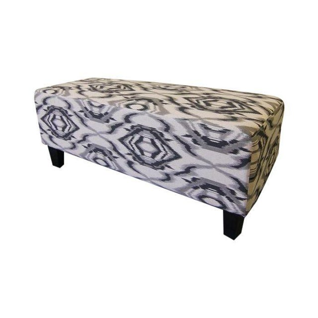 Contemporary White and Grey Ottoman/Stool - Image 2 of 7