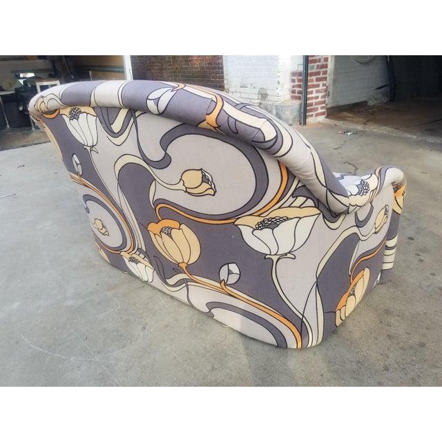 Yellow 1960s Vintage Milo Baughman Art Nouveau Tub Loveseat For Sale - Image 8 of 12