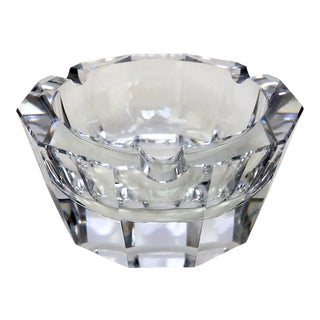 Traditional Beveled Glass Ashtray For Sale
