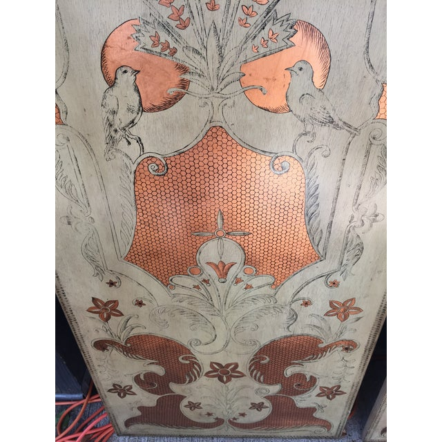 Asian Modern Century Furniture Panels- A Pair For Sale - Image 3 of 5
