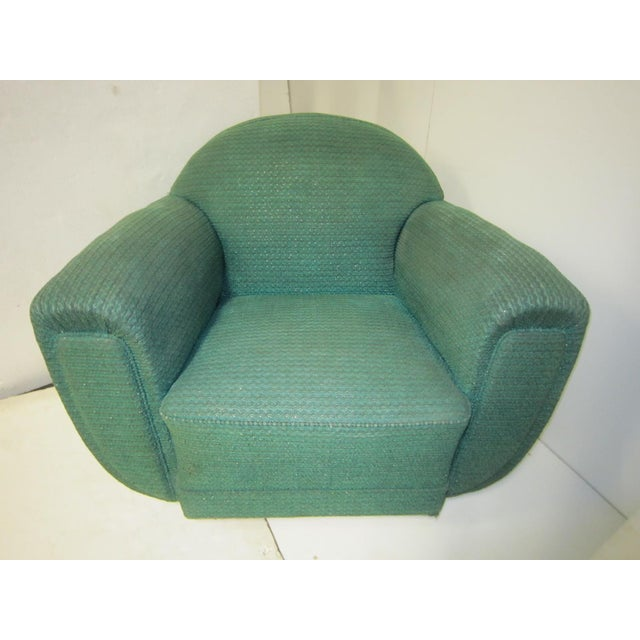 1930s French Art Deco Upholstered Club Chairs-a Pair For Sale - Image 10 of 13