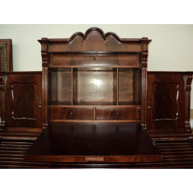 Brown Antique German Mahogany Roll Top Desk, Circa 1860's For Sale - Image  8 of - Antique German Mahogany Roll Top Desk, Circa 1860's Chairish