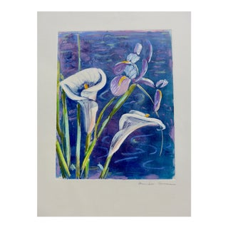 , French Bouquet of Iris and Calla Lilies For Sale