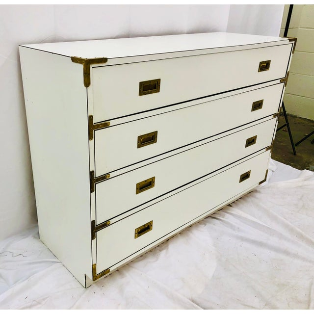 Mid 20th Century Vintage Campaign Style Dresser Chest For Sale - Image 5 of 10