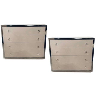 Mid-Century Modern Commodes Attributed to John Stuart - a Pair For Sale