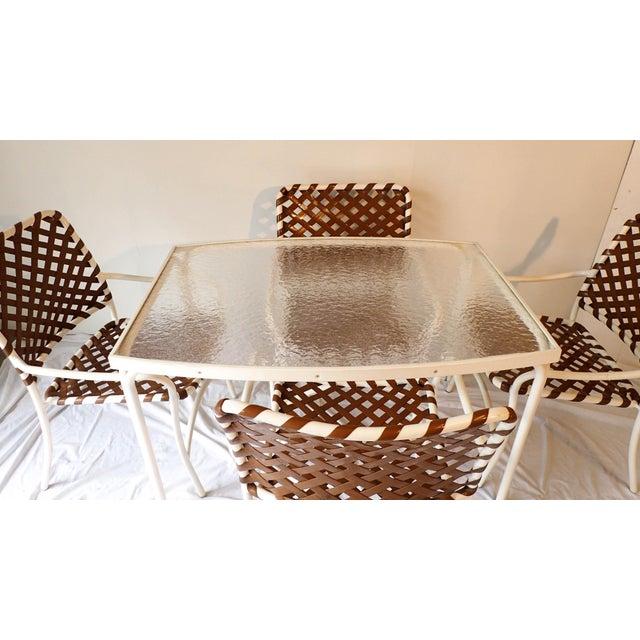 Tropitone Brown & White Outdoor Patio Set - Set of 5 - Image 5 of 11