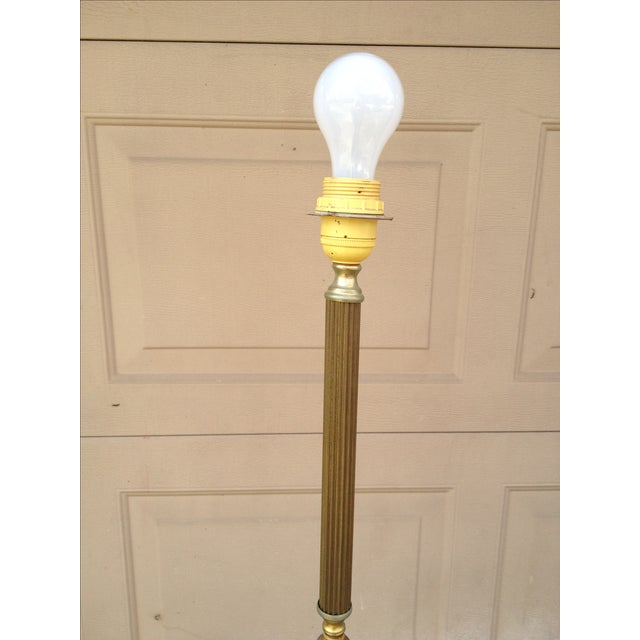Marble and Brass Floor Lamp - Image 3 of 8