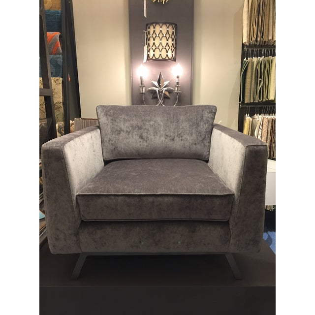 Weiman Home Miles Velvet Chair For Sale - Image 9 of 9