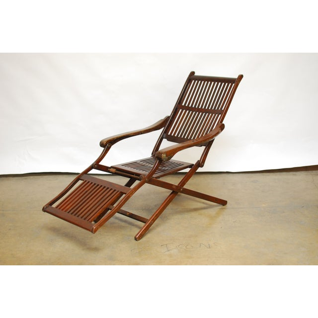 Antique Ocean Steamer Deck Chair - Image 2 of 7