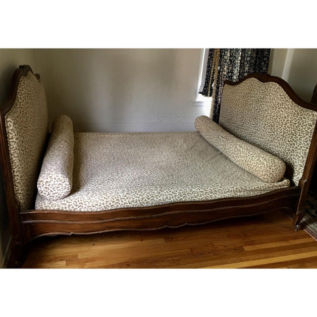 Superb Antique French Provincial Bed - Scalamandre Cheetah - Image 5 of 6