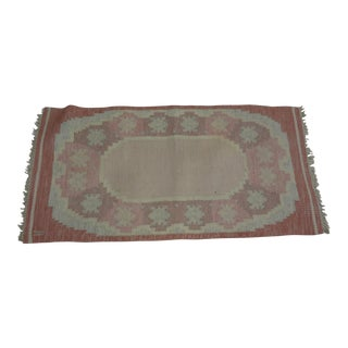 "Swedish Flat Weave Rug - 2'8"" X 5'4"" For Sale"