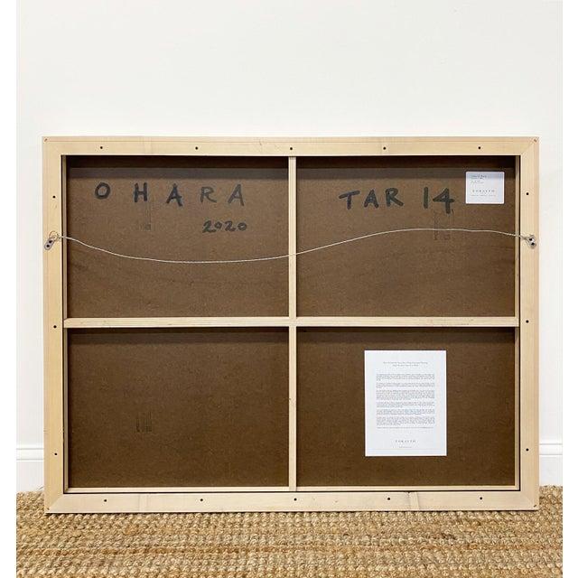 """Encaustic Exclusive John O'Hara """"Tar, 14"""" Encaustic Painting For Sale - Image 7 of 8"""