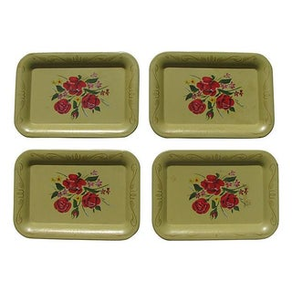 Mid-Century Hors d'Ouevres Trays - Set of 4 For Sale