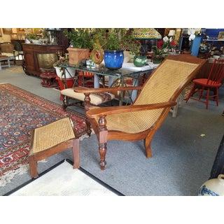Teak Plantation Chair & Ottoman