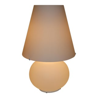 1980s Modern Murano Due Table Lamp White For Sale