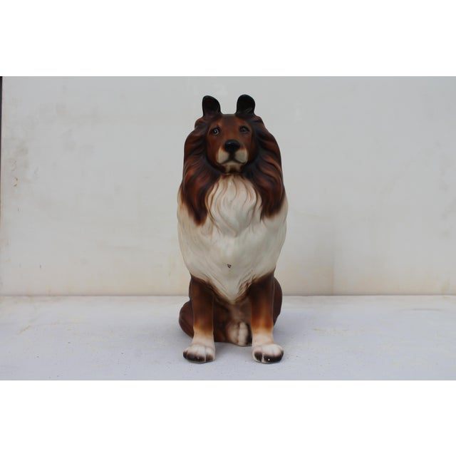 Mid-Century Glazed Ceramic Dog Sculpture For Sale - Image 10 of 12