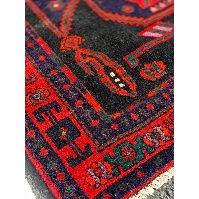 Blue 1960s Vintage Persian Bijar Runner Rug - 4′3″ × 11′4″ For Sale - Image 8 of 13