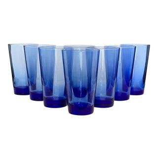 Cobalt Blue Highball Glasses, Set of 8 For Sale