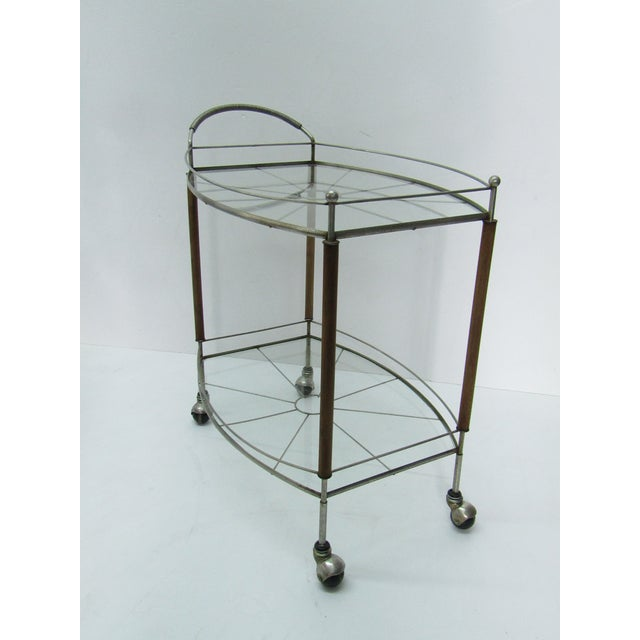 1950s Mid Century Modern Teak and Metal Bar/Tea Cart For Sale In West Palm - Image 6 of 6