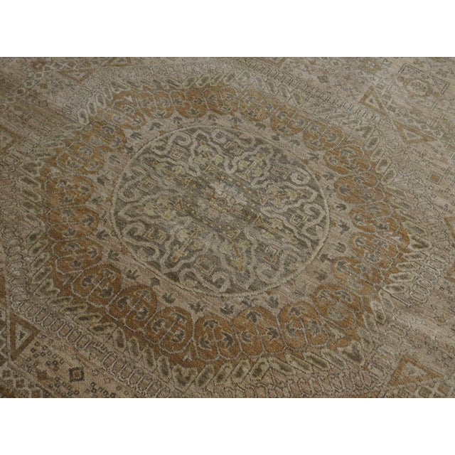 "Asian Mamluk Hand-Knotted Luxury Rug - 7'10"" x 7'11"" For Sale - Image 3 of 10"