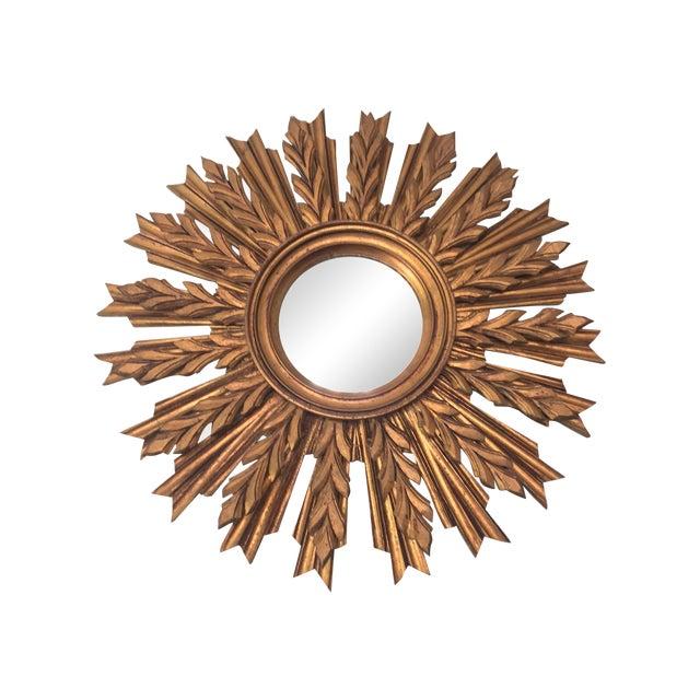 Wooden Sunburst Mirror - Image 1 of 11