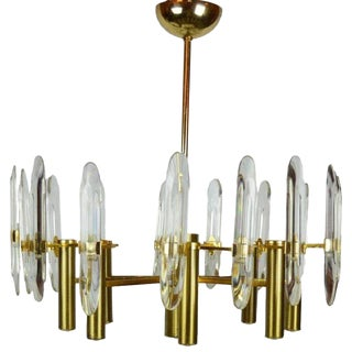 1970s Gaetano Sciolari 8 Light Chandelier For Sale