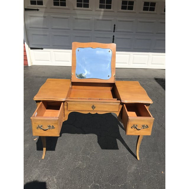 Very sought after piece in very good condition. Use as a Vanity or Desk.