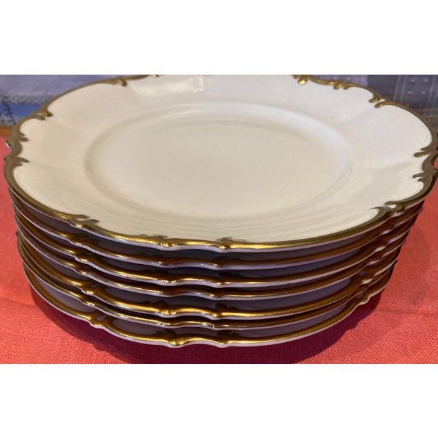 Vintage 1960s Hutschenreuther Bavaria Germany Pasco Salad Plates - Set of 7 For Sale - Image 9 of 10