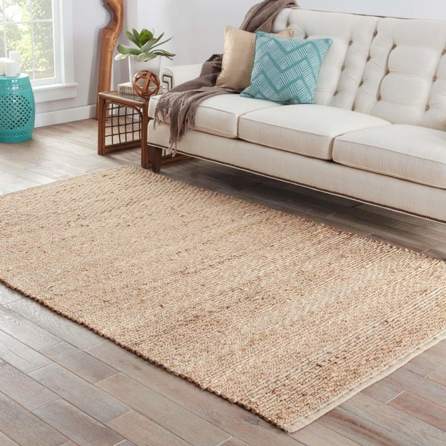 2010s Jaipur Living Braidley Natural Solid Beige Area Rug - 5′ × 8′ For Sale - Image 5 of 6