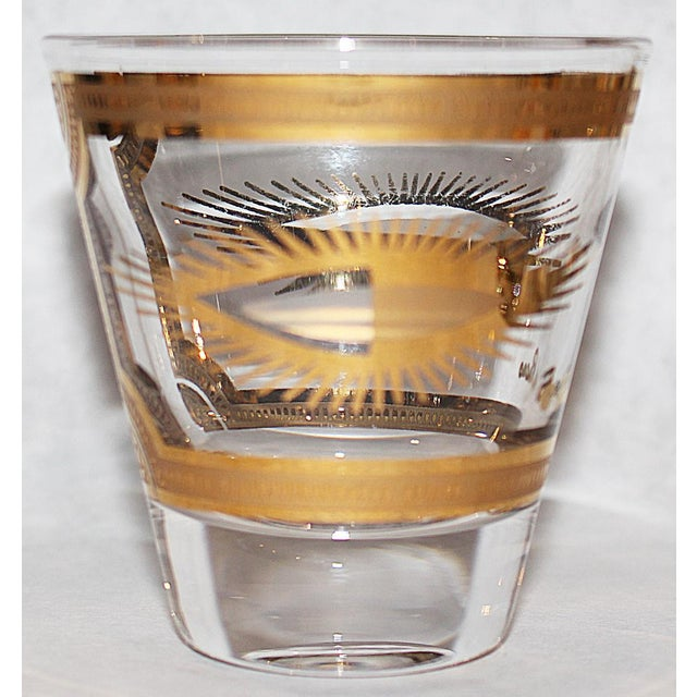 Fred Press Gilded Double Shot Glasses - Set of 6 - Image 4 of 6
