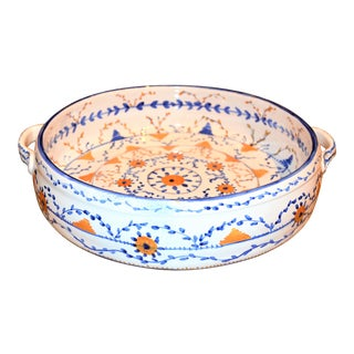 Vintage Talavera Style Centerpiece Bowl For Sale