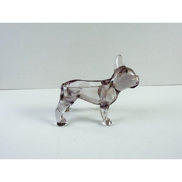 French Bull Dog Figural Glass Dish - Image 4 of 6